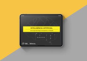 Tablet com capa do ebook Inteligencia Artificial na tela